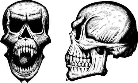 jaw: Scary skulls Illustration