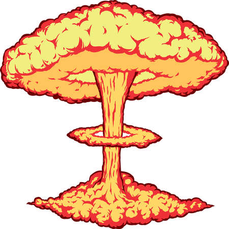 Nuclear explosion Stock Vector - 5096639