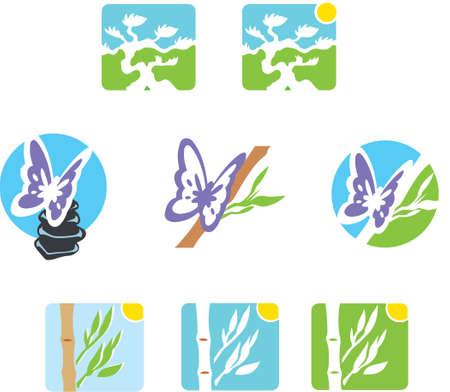 rock logo: Iconos de Zen Vectores