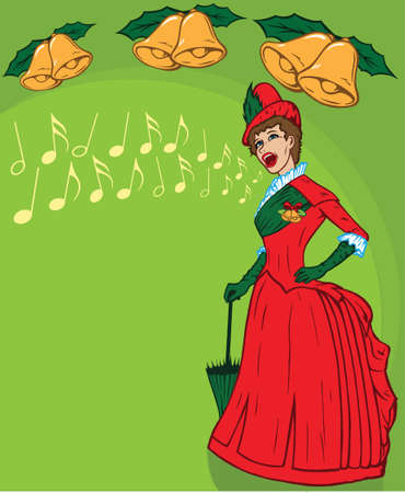 French belle singing christmas songs.
