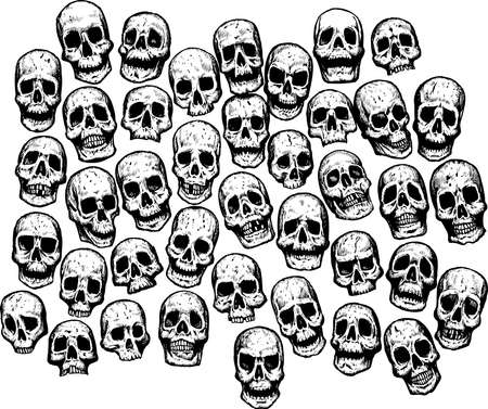 Multiple Skulls, can be used for anything. Stock Vector - 6100116