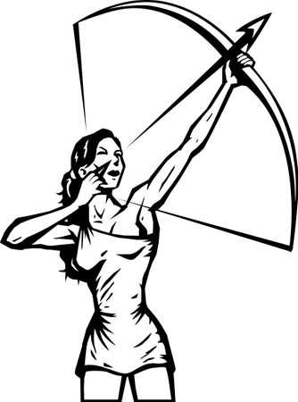 Stylized female Archer  Illustration