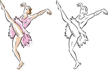Stylized ballet dancer Stok Fotoğraf - 6218361