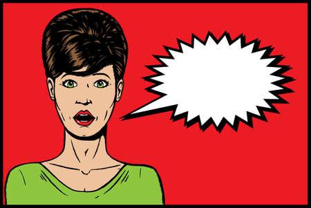 1960s girl Ilustração