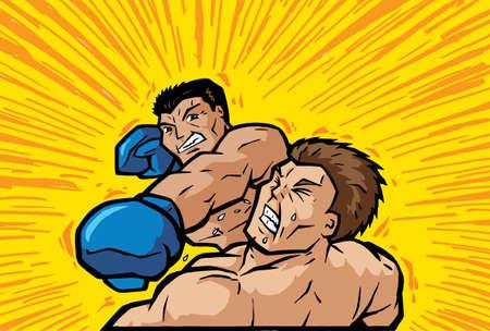 Knockout Punch  Archivio Fotografico - 6250116