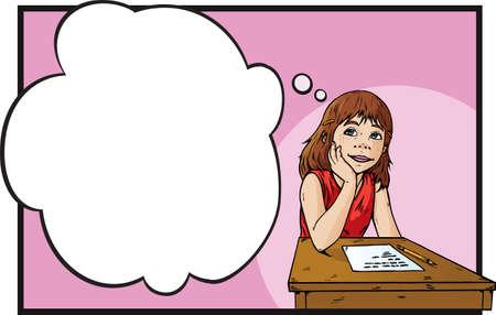 fantasize: Chica sue�os de en un aula. Se puede utilizar para nada.