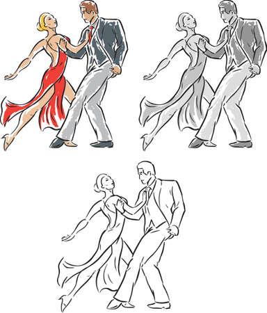 Stylized Dancers Vector