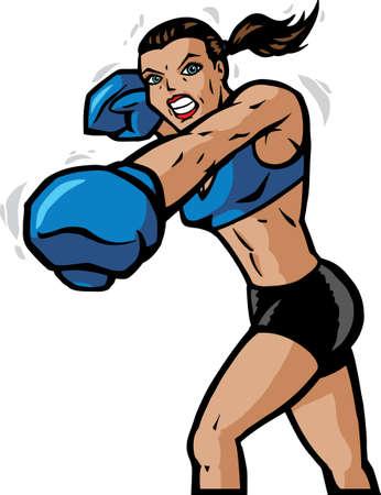 fight girl: Boxe girl  Vettoriali