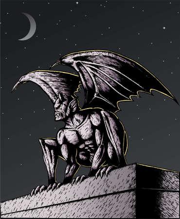 gargouille: Gargoyle nuit