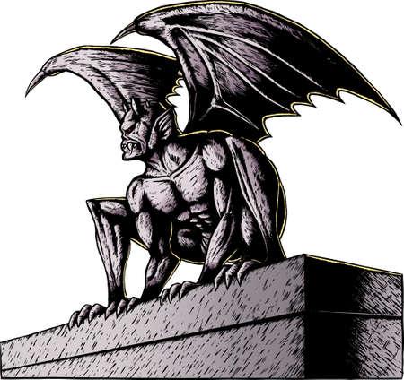Gargoyle Vector Illustratie