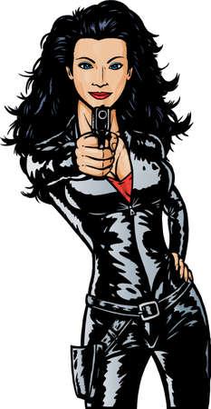 Sexy meisje van de geheim agent