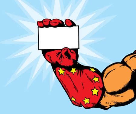 スーパー ヒーローの手は何も保持することができます。