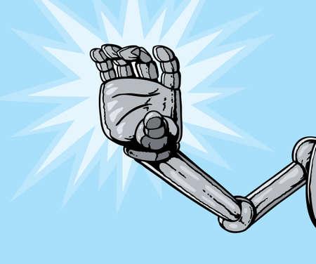 Robot hand grabbing or reaching
