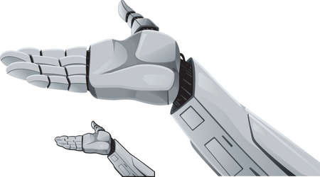 Robot hand demonstrating.
