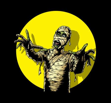 mummified: Comic Book Mummy Illustration
