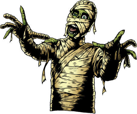 Comic Book Mummy Illustration