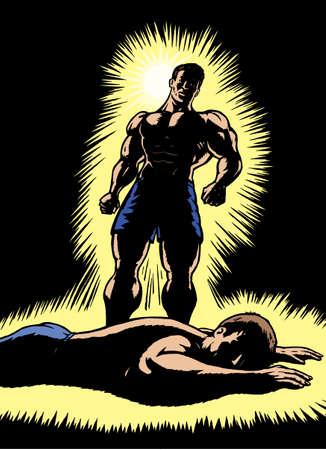 toughness: Combattente trionfante, stagliandosi avversario battuto