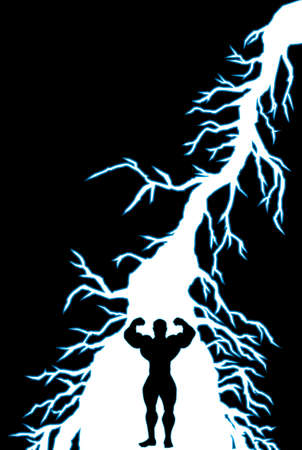 forearms: empowering lightning bolt
