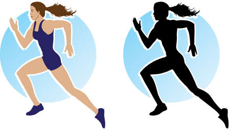 excercise: Outline of running girl