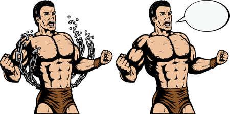 cadenas: Strongman romper cadenas