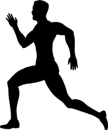Outline of a runner Vector