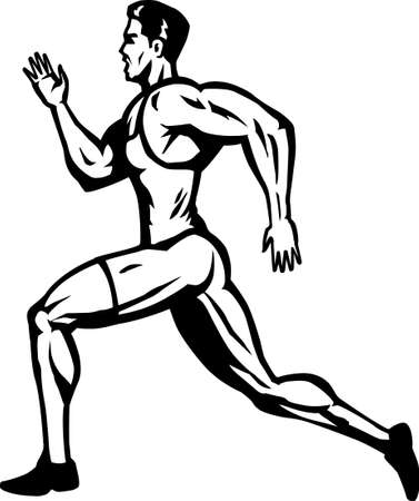 running: Stylized Sprinter Illustration