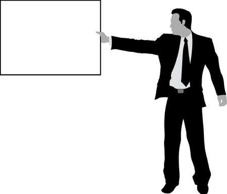 ビジネスの男性と記号