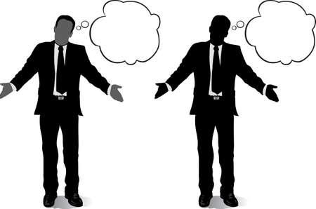questioning: Bewildered Business man