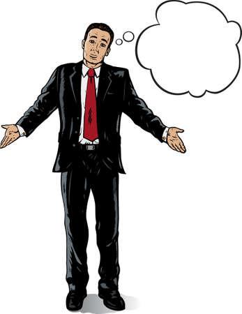 Verbijsterd Business man Stock Illustratie