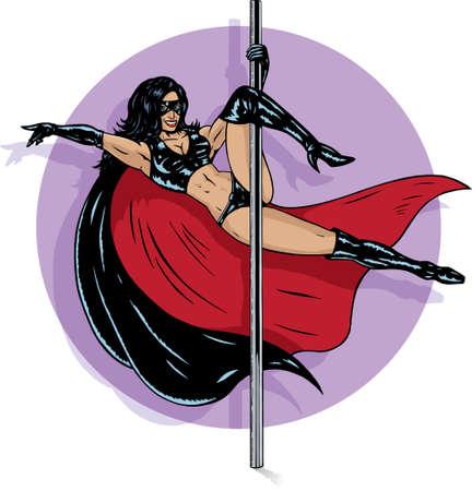 Superheld stripper