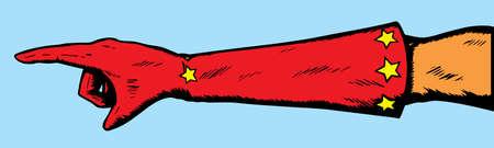 superheroine: Superheroine hand pointing