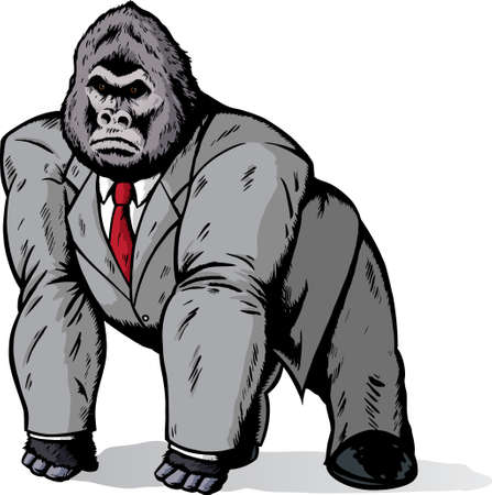 Gorila en traje  Foto de archivo - 7102612