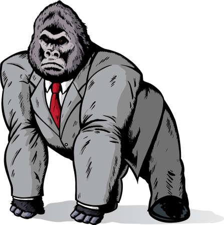 gorila: Gorila en traje  Vectores