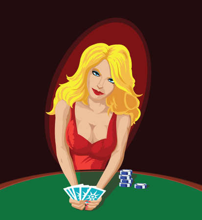 Sexy Poker Player, distracting you with her sensuality.