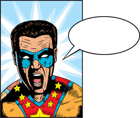 face book: Yelling Superhero yelling something.  Anything can be put in Balloon.