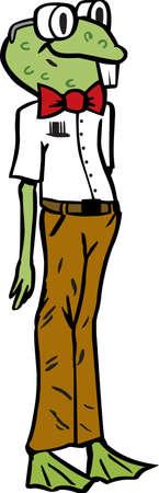 Nerdy frog or scientist frog.