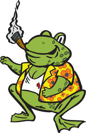 cigar cartoon: Grubby Frog, can be used for anything.