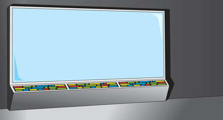 screen: Cartoony Computer Screen, can be used for anything. Illustration
