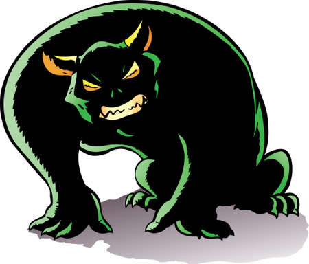 hunched: Hunched Demon, angry and ready to pounce.