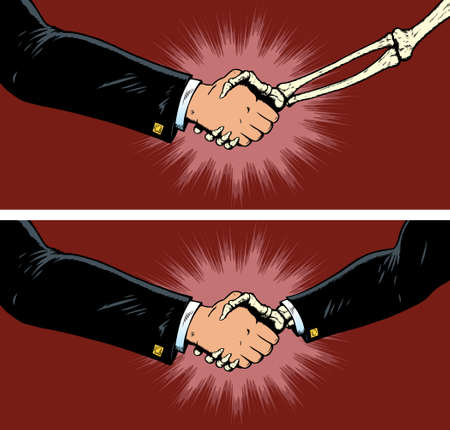 cuff link: Deal with death Illustration