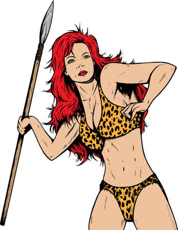 breast comic: Jungle or prehistoric gal