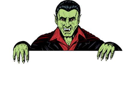 Vampier bedrijf in een teken, kan worden gebruikt voor alles.