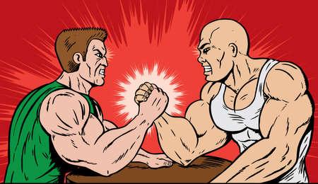 Muscle hommes bras de fer Banque d'images - 7883996