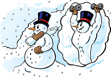 slimming: Dreaming Snowman, thinking of getting in shape