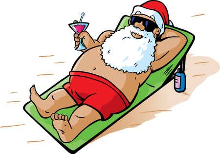 sunglasses beach: Santa takes a vacation
