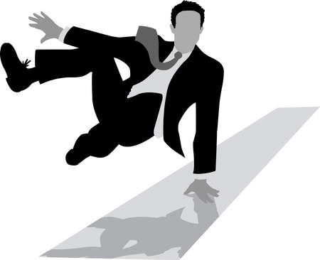 Jumping Outline of a businessman