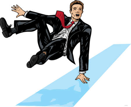 businessman jumping: Jumping businessman Illustration