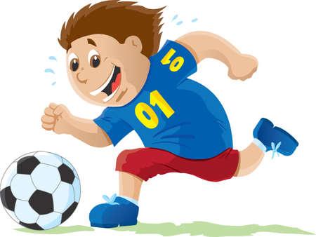 Ni�o jugando Soccer Foto de archivo - 8361533
