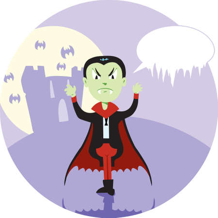 Cute Count Dracula saying something Stock Vector - 8434227