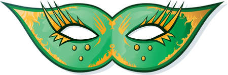masked ball: Mask for a costumed ball or mardi gras.  Illustration